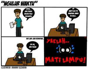 komik strip 4 ngulur waktu